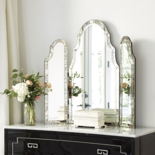 Miles Redd Tri Fold Vanity Mirror Ballard Designs