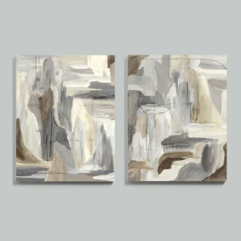 Birch Bark Abstract Stretched Canvas