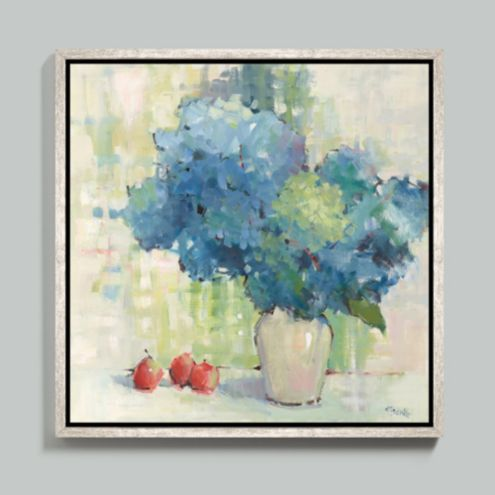 French Blue Framed Canvas