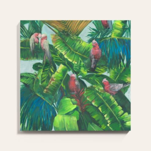 Birds in Paradise Stretched Canvas