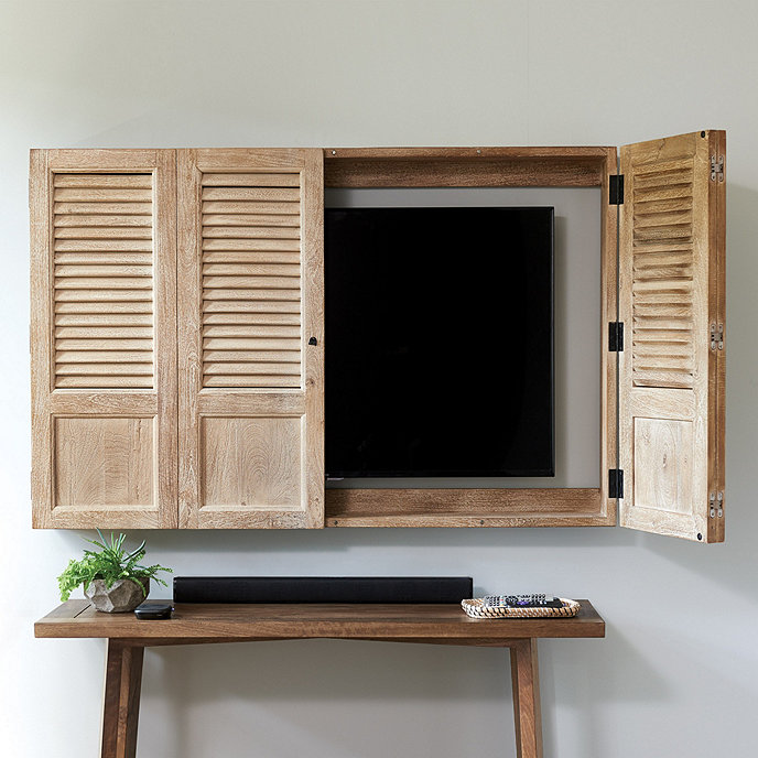 Attrayant Shutter TV Wall Cabinet