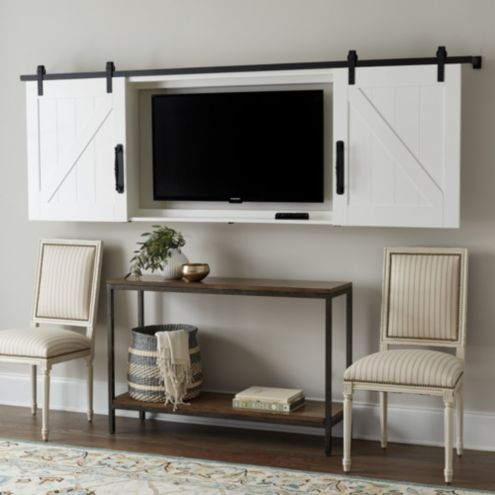 Barn Door TV Wall Cabinet